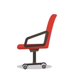 Red office chair vector