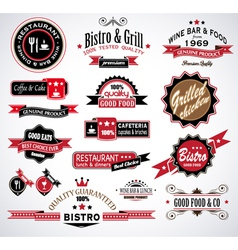 Restaurant Labels vector