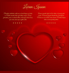 romantic valentines day template vector image