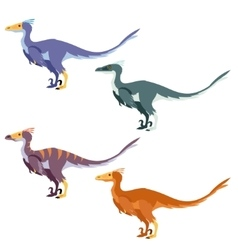Set of raptors vector image