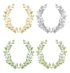 Set wreaths vector