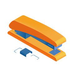 stapler isometric icon vector image
