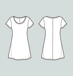 T-shirt dress vector