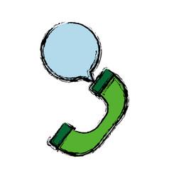 Telephone handset icon vector