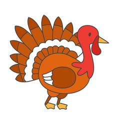 Thanksgiving turkey bird cartoon mascot character vector