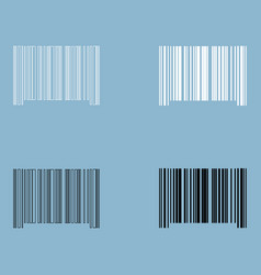 the barcode the black and white color icon vector image