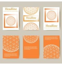 Trendy Mesh polygonal design style letterhead and vector image