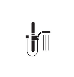 wall shower black concept icon wall shower vector image