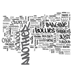 Will your child die of bullycide text word cloud vector
