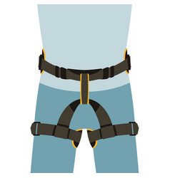 Worker safety belts vector