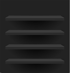 Black shelves design vector image