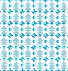 Christmas tree seamless pattern festive vector image