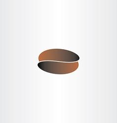 coffee bean brown black icon logo vector image vector image
