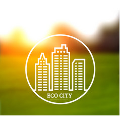 ecologically clean green city vector image vector image