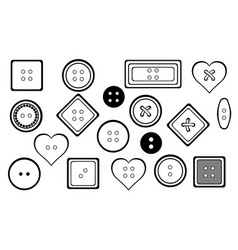 set of different buttons vector image vector image