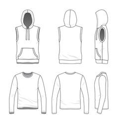 sleeveless hoody and tee vector image