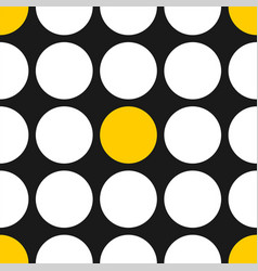 tile pattern with white and yellow polka dots vector image