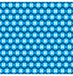 blue flower pattern stock vector image vector image