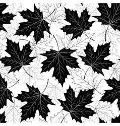 Fall leaf seamless pattern Autumn foliage vector image