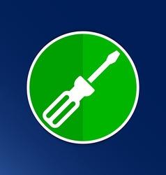 icon of screwdriver button logo symbol concept vector image vector image