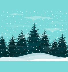 snow in woods vector image vector image