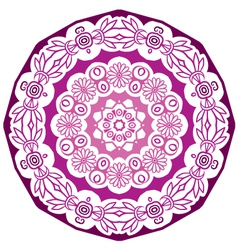 violet round ornament vector image vector image