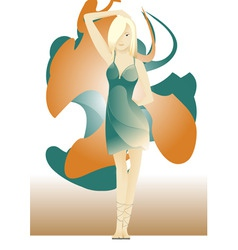 young woman vector image