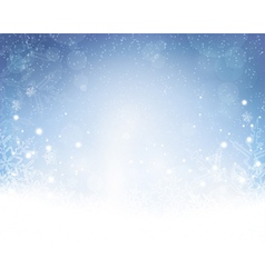 Abstract blue white winter Christmas vector image vector image