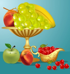 Fruits Still life vector image vector image
