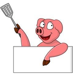 pig chef cartoon character vector image