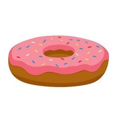Pink donut vector