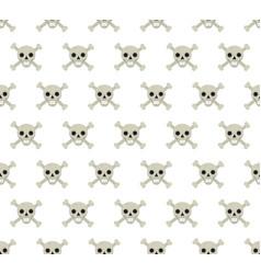 skull and bones seamless pattern skeleton vector image