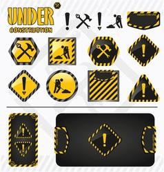 Under construction set vector image vector image