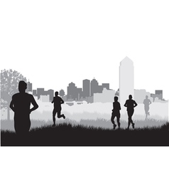 city runners vector image vector image
