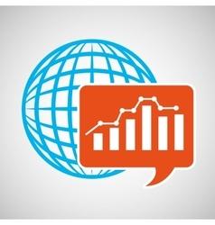 global web network graphics statistics icon vector image