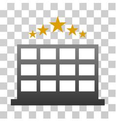 Hotel stars gradient icon vector