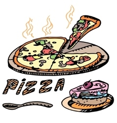 Pizza Cake vector image
