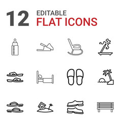 12 relax icons vector