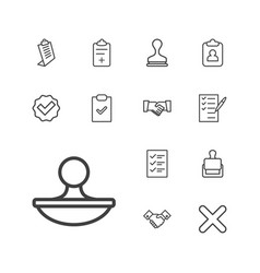 13 agreement icons vector
