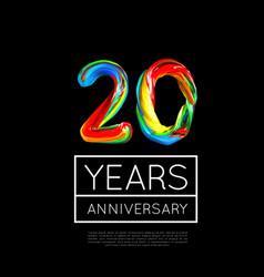 20th anniversary congratulation for company vector