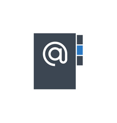 address book related glyph icon vector image
