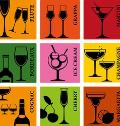 AlcoholDrinks vector image