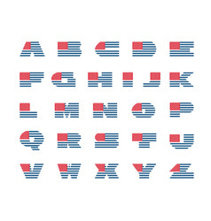 america alphabet usa font vector image