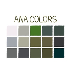 ANA No 2 Color Tone without Name vector