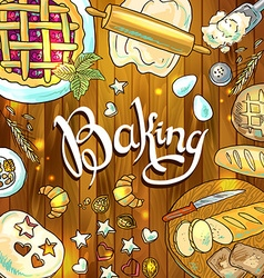 Baking beautiful hand-draw vector
