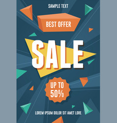 best offer sale flyer vector image