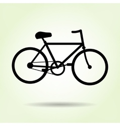Bicycle icon Male bike Sport symbol Black vector