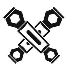 Bike key icon simple style vector