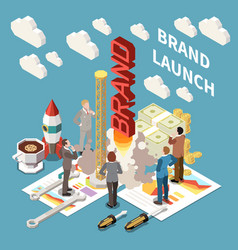 Brand launch concept vector