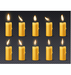 candle flame animation animated candlelight vector image